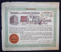 image of Guarantee and Indemnity Certificate Issued by Wing & Son