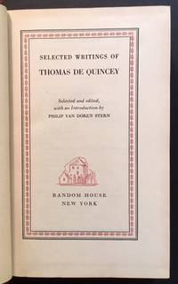 Selected Writings of Thomas De Quincey