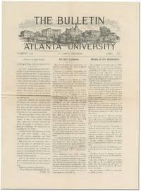 The Bulletin Atlanta University, April, 1901