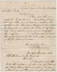 Correspondence between Thomas F. Rowland, Colonel William Borden, and J.B. Andrews regarding the fabrication of ironwork parts needed in the construction of the ironclad, USS New Ironsides
