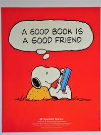 """Promotional Poster Featuring Snoopy : """"A Good Book is a Good Friend"""
