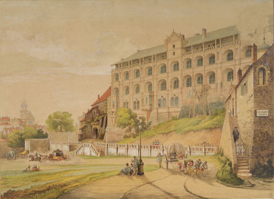 Blois' castle in 1846 during...