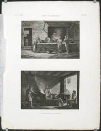 Arts et Metiers. 1. Le Chaudronnier. 2. Le Forgeron.