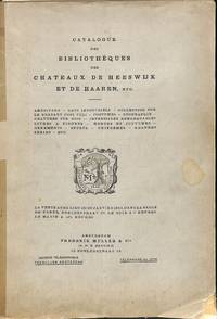 Vente 26 & 29 Janvier 1903: Catalogue des Bibliothèques des Chateaux de  Heeswijk et de Haaren, etc. Américana - Arts Industriels - Collection sur  le Brabant (3000 vols.), etc.