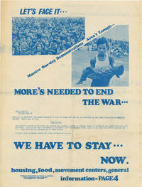 Let's Face It...Massive One-Day Demonstrations Aren't Enough...More's Needed to End the War...We Have To Stay...Now