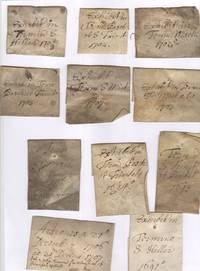 image of Collection of 28 tags for legal documents, in Latin, (Vice-Chancellor's Court)