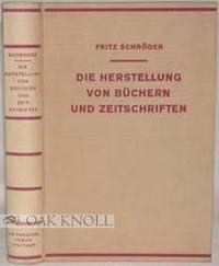 Stuttgart: C.E. Paeschel Verlag, 1930. cloth. large 8vo. cloth. (xi), 378 pages. First edition. A hi...