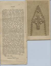 image of Carte de visite photo of a Relic of the True Cross, with accompanying article
