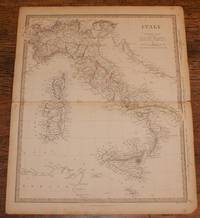 "Map of Italy including Sicily, Malta, Sardinia, Corsica etc. - disbound sheet from 1857 ""University Atlas"