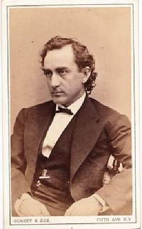 CARTE DE VISITE OF AMERICAN ACTOR EDWIN BOOTH, PHOTOGRAPHED BY GURNEY & SON