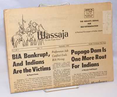 San Francisco: The American Indian Historical Society, 1973. Newspaper. 24p. folded tabloid newspape...