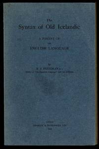 image of The Syntax of Old Icelandic: A Parent of the English Language