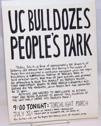 image of UC Bulldozes Peoples Park [handbill]