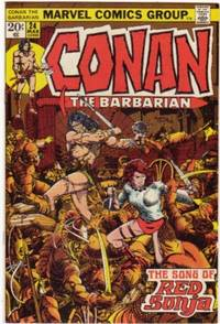 "Conan the Barbarian # 24, March 1973 -1st appearance of ""Red Sonja""  -Comic"