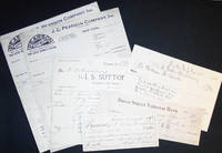 image of Six Documents relating to C. Wesley Armstrong (4 of them signed by him)