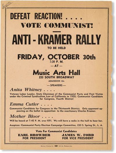 : Communist Party Election Campaign Committee, . Broadside, 12
