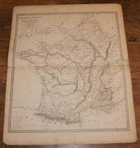 "Map of Ancient France or Galliatransalpina - disbound sheet from 1857 ""University Atlas"