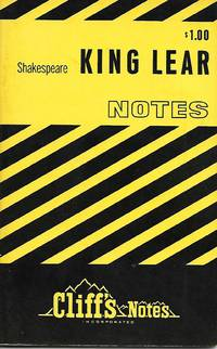 image of King Lear - Cliff's Notes  (1968 Vintage Copy