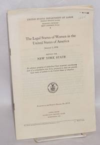 The legal status of women in the United States of America; report for New York State