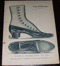 image of Original 1890 Full Page Illustrated Advertisement for Curtis & Wheeler  Shoe Company