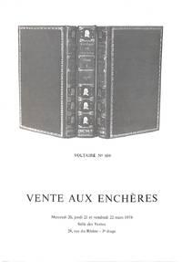 Vente 20, 21 & 22 mars 1974: Livres illustrés modernes - Livres anciens et  modernes - Autographes.