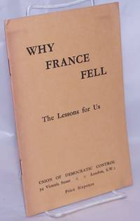 image of Why France Fell: The Lessons for Us