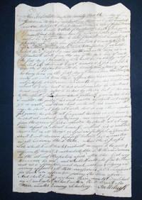 image of Indenture binding Wm. Dorman to Joseph Lee [apprenticeship to saddler]