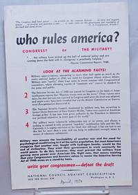 image of Who rules America? Congress? or the military