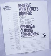 image of Reserve Your Tickets Now for Gay Olympic Ganmes Opening_Closing Ceremonies Saturday Aug. 28_Sunday Sept. 5 [handbills]