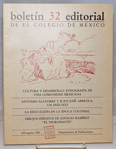 Mexico City: Departamento de Publicaciones, Colegio de Mexico, 1990. 39p., stapled wraps, 8 x 10.25 ...