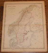 "Map of Sweden, Norway and Denmark - disbound sheet from 1857 ""University Atlas"