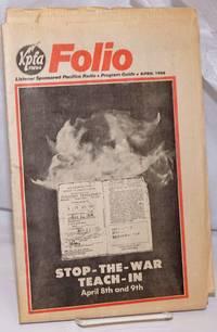 image of KPFA Folio: Listener Sponsored Pacifica Radio, Program Guide, April 1980