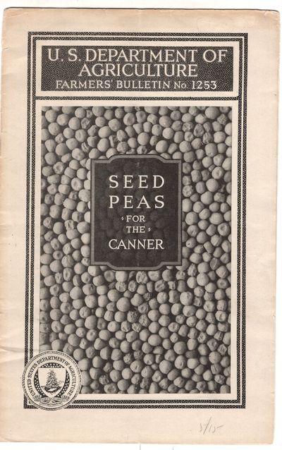 Washington DC: U.S.D.A. , 1922. First Edition. Pamphlet. Good. Stapled pamphlet