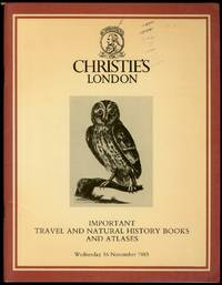 image of Christie's London: Important Travel and Natural History Books And Atlases, 16 November 1983