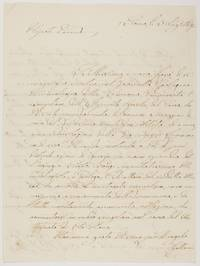 Fine Autograph Letter Signed in Italian, with translation, to his nephew, (the Count di Colloredo), (Ludovico, 1805-1867, Cardinal, Governor of Rome, Prefect of the Congregation of the Index, Chancellor of Rome University)