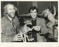 image of Original photograph of Jim Henson and Harry Dean Stanton, circa 1989