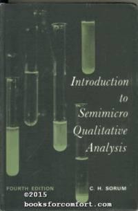 image of Introduction to Semimicro Qualitative Analysis