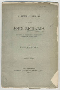 A memorial tribute to the late John Richards, inscribed to his descendants upon the centennial of his birth.