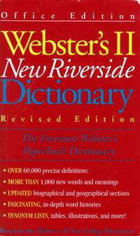 Webster's II New Riverside Dictionary-Revised Edition