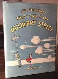 Dr Seuss And To Think That I Saw It On Mulberry Street 1ST/Second 1937 DJ $1.25