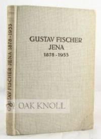 Jena: Gustav Fischer, 1953. cloth. Fischer, Gustav. 8vo. cloth. vii, (iii), 134 pages with additiona...