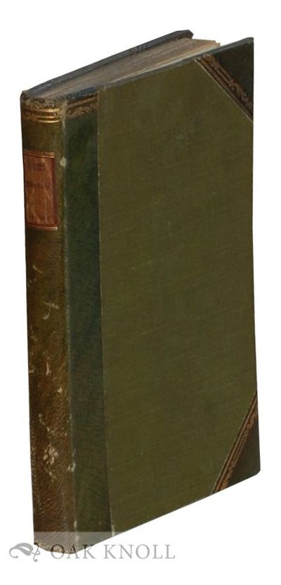 Paris: H. Daragon, 1903. later half green leather, green cloth, paper spine label. 8vo. later half g...