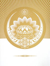 Obey Lotus Crescent (White & Gold).