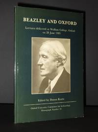 Beazley and Oxford: Lectures delivered at Wolfson College, Oxford on 28 June 1985