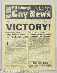image of Pittsburgh Gay News: for the Pittsburgh area gay community; #8, Saturday, January 12, 1974: Victory! Psychiatrists drop gay sickness label