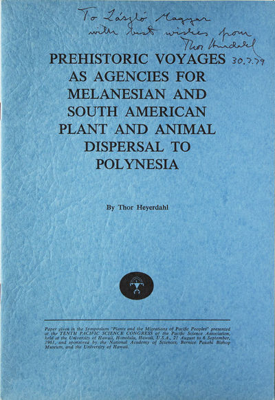1961. Offprint. pp. -35. 4to. Wrappers. Fine. Offprint. pp. -35. 4to. Inscribed on the front upper w...