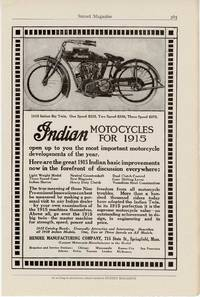 Indian Motocycles for 1915.  1915 Indian Big Twin.