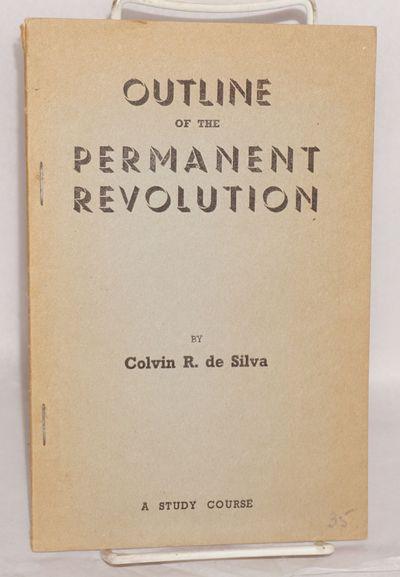 Colombo, Ceylon: Lanka Samasamaja, 1955. 28 p., stapled wraps, paper evenly browned, otherwise very ...
