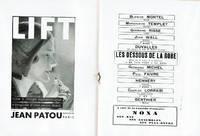 LES DESSOUS DE LA ROBE: Piece en 3 actes et 4 tableaux de Pierre Veber et Alex Madis. (Creation le 20 decembre 1930). Theatre de Palais-Royal. (Souvenir program).