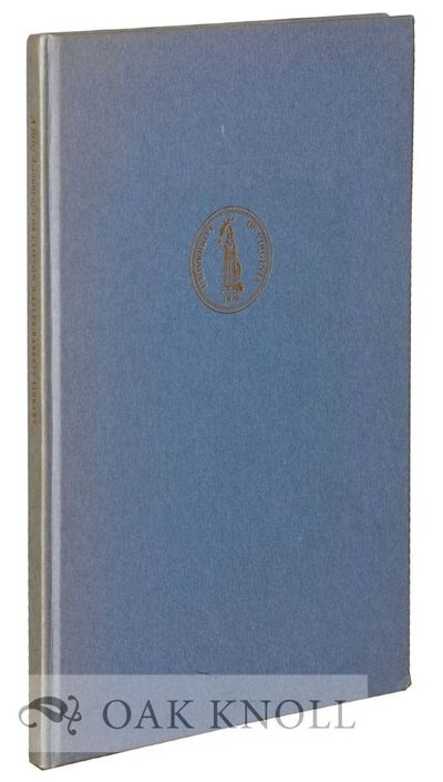 Charlottesville: University of Virginia, 1960. boards. Barrett, C. Waller. 8vo. boards. 35 pages. Fi...
